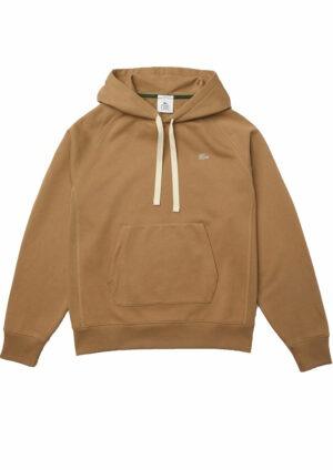 Lacoste Live Sweatshirt à capuche unisexe Lacoste LIVE loose fit en coton uni