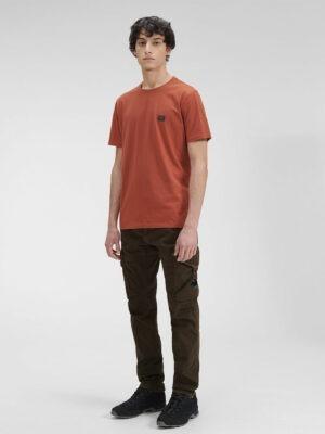 CP Company t-shirt en jersey avec étiquette de poitrine 30/1