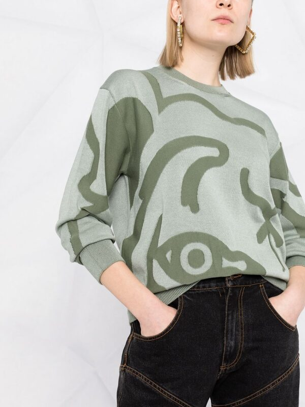 Kenzo pull à motif abstrait en intarsia