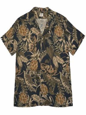 Cala Chemise manches courtes STEFANO MAUI marine à fleurs