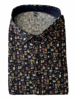 Chemises chemise manches longues à motif