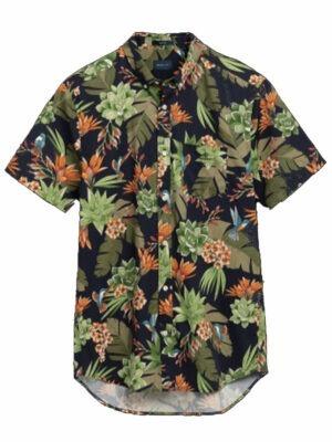Chemises Chemise regular fit à manches courtes et imprimé Humming Garden