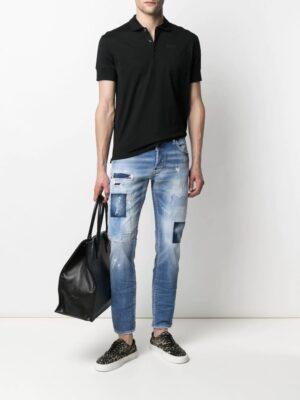 Dsquared2 jean skinny à effet usé