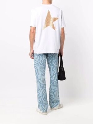 Golden Goose t-shirt White Star Collection