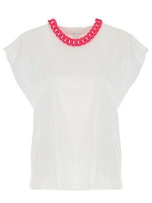 Hauts T-Shirt avec chaîne en contraste sur l'encolure