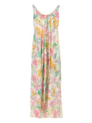 Imperial Maxi-Robe fleurie avec décolleté au dos