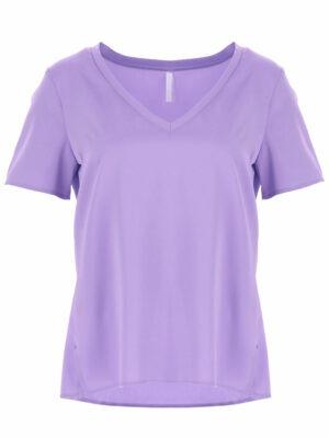 Braderie t-shirt uni avec col en v