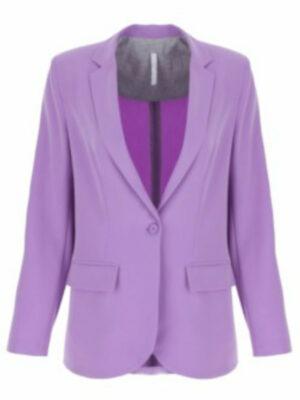 Imperial veste col tailleur violet