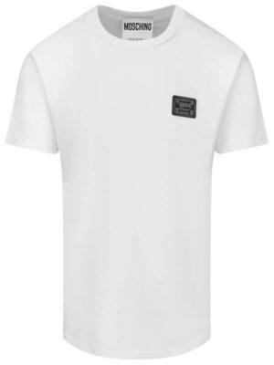 Men t-shirt en jersey avec étiquette métallique