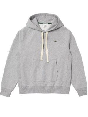 Hauts Sweatshirt à capuche unisexe Lacoste LIVE loose fit en coton uni