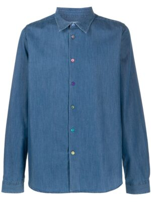 Chemises chemise ajustée en denim