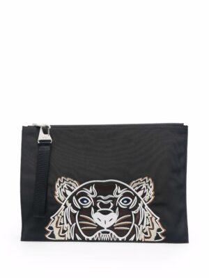Accessoires pochette zippée à motif tigre