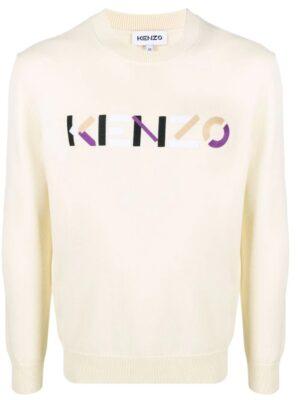 Kenzo pull à logo brodé