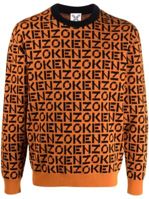 Kenzo pull en jacquard monogrammé