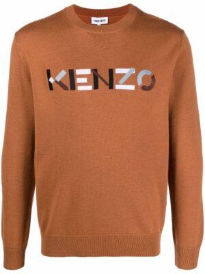 Kenzo pull en maille à logo brodé