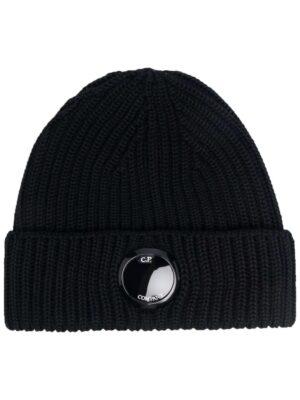 Accessoires bonnet en maille nervurée à patch logo