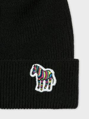 Accessoires Bonnet en laine d'agneau à logo zèbre
