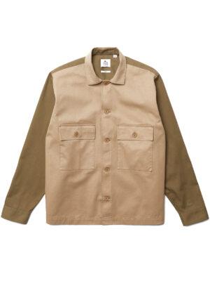 Chemises Chemise unisexe Lacoste L!VE coupe décontractée en coton bicolore