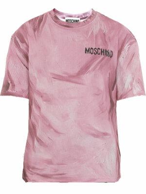 Hauts t-shirt à effet taches de peinture