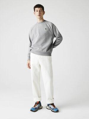 Lacoste Live Sweatshirt unisexe ample en molleton de coton