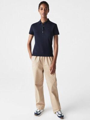 Hauts Polo slim fit en piqué de coton stretch