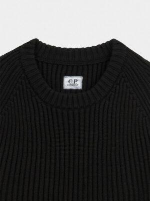 CP Company pull en maille côtelée à lentille en laine mérinos