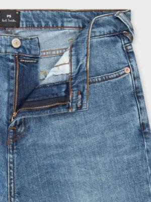 Men jean dry indigo coupe classique slim légèrement délavé