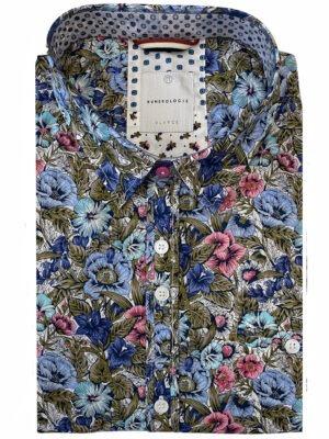 Braderie chemise à motif fleuri