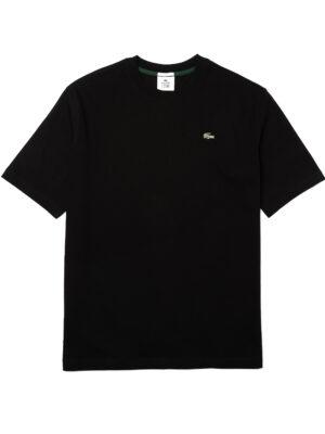 Hauts T-shirt unisexe Lacoste LIVE ample en coton uni
