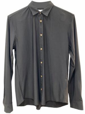 Cala chemise manches longues en tissu stretch