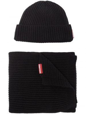 Accessoires ensemble bonnet et gants en maille