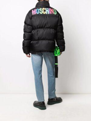 Manteaux doudoune à logo imprimé