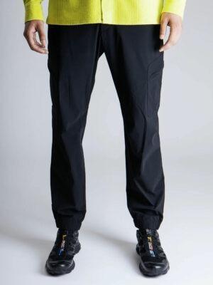 Men pantalon cargo à poches latérales zipées