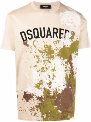 Dsquared2 t-shirt à effet taches de peinture
