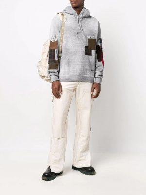 Dsquared2 hoodie à détail patchwork