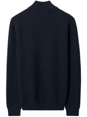 Gant Pull zippé avec motif Triangle Texture