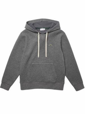 Lacoste Live Sweatshirt à capuche loose fit en coton mélangé uni
