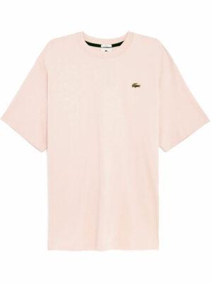 Hauts T-shirt unisexe Lacoste LIVE en coton uni