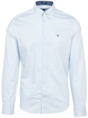Chemises Chemise slim fit en coton Oxford armuré à pois