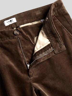 Men Pantalon à effet velours