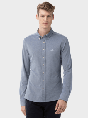 Chemises Chemise slim fit en piqué uni