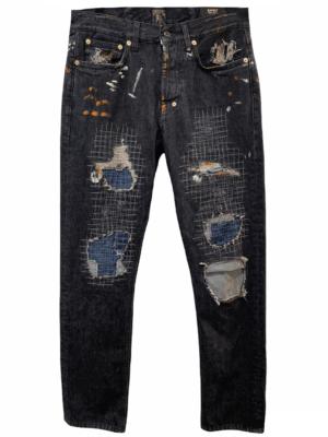 Jeans Jean à effets peinture