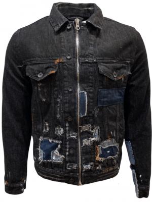 PRPS Veste en jean à effets peinture