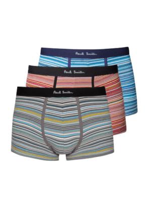 Men Ensemble de Trois Boxers Homme Multicolore «Signature Stripe» Taille Basse