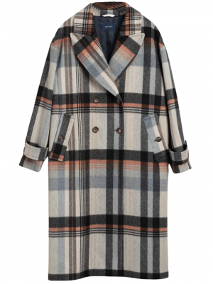Gant Manteau Cocoon à carreaux