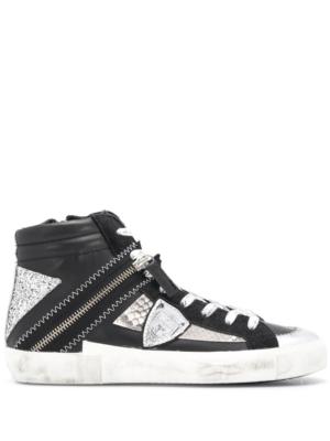 Baskets Sneakers bike en cuir